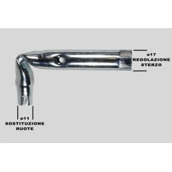 CHIAVE A TUBO DA 11 - 17 mm MANUTENZIONE PATTINI ARTISTICO