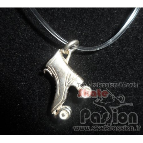 COLLANA IN SILICONE CON PATTINO IN ARGENTO PATTINO