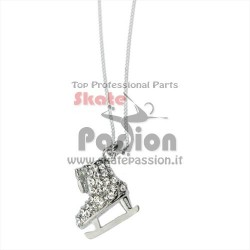 COLLANA CON CIONDOLO PATTINO ICE + STRASS