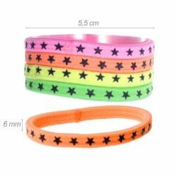 Elastico-braccialetto Colori Fluo con Stelline