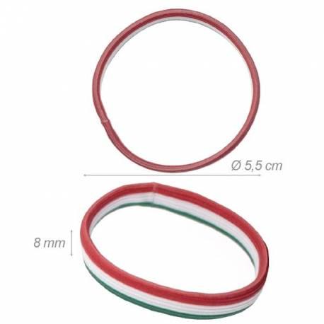 Elastico-braccialetto Tricolore Italia