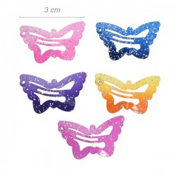 Clic Clac Farfalla Smaltati 3cm Glitterati