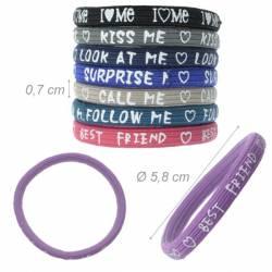 Elastico-braccialetto con Messaggio Assortito