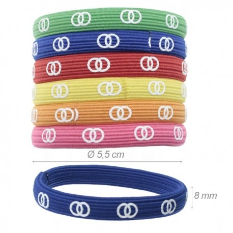 Elastico-braccialetto con Simbolo Doppio Cerchio