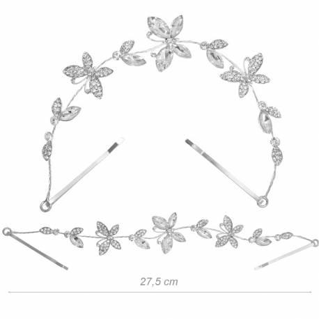 Decorazione per Capelli con Farfalle, Strass e Cristalli